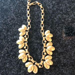 Stella & Dot Antiqued Brass Petal Necklace - Mint!